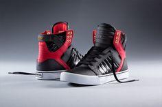 Black & Red Skytop http://www.suprafootwear.com/news/2014/01/14/Black_&_Red_Skytop?utm_source=pinterest&utm_medium=news&utm_campaign=black-red-skytop