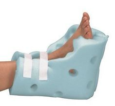 Posey Heel Guard by Posey. $27.75. Protect against heel ulcers and help prevent footdrop. Soft, lightweight, super-comfortable foam. For use in bed or wheelchair. Posey Heel Guards protect against heel ulcers and help prevent footdrop. Soft, lightweight, super-comfortable foam. For use in bed or wheelchair. Side vents keep feet cool. Hook-and-loop fasteners. Single-patient use. One size fits all. Sold in pairs. Suggested code: E0191.
