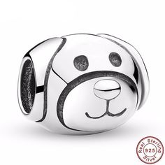 Luxury Pure 925 Sterling Silver Lovely Puppy Devoted Dog Animal Charm Fit Pandora Bracelet Show Loyal and Friendly Berloque Silver Beads, Silver Charms, Silver Jewelry, Silver Ring, Silver Poodle, Sterling Silver Charm Bracelet, Fitness Bracelet, Pandora Charms, Charmed