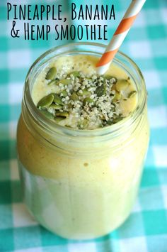 Pineapple, Banana and Hemp Smoothie - This is, hands down, one of my favourite smoothies that I've ever made. And it's so simple, too!