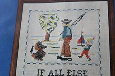 Cross Stitch Sampler Kit Stamped by VintageSouthernPicks on Etsy