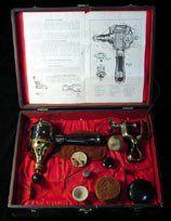 """White Cross Electric Vibrator"", Brass Version, Lindstrom Smith Co., circa 1910    #GoodVibrations #Vintage #Antique #Vibrator #Museum"