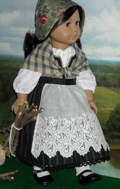 Celtic Lass Outfit for 18 inch Dolls by SugarloafDollClothes