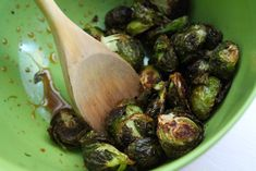 Honey-Sriracha Roasted Brussels Sprouts