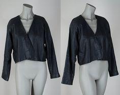 Vintage 1980s Jacket / 80s Avant Garde Short by FloriaVintage, $82.00