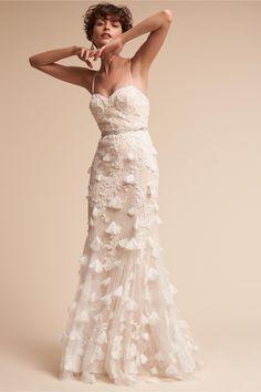 BHLDN Cream Raina Gown in  New | BHLDN