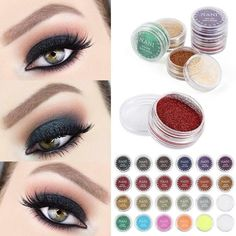 6 Color Glitter Makeup Eyeshadow Palette Children Stage Festival Party Makeup Shimmer Sequins Glitter Eye Shadow Palette Tslm1 Beauty Essentials
