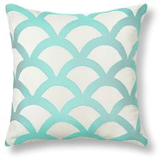 Love this Embroidered Wave Pillow Cover for $38 on C. Wonder