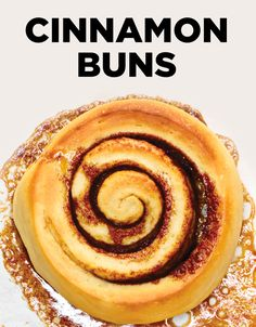 These Homemade CInnamon Buns are fluffy, gooey, rich, warm, blissful, sweet pastries swirled with buttery, cinnamon-brown sugar and smothered with a cream cheese frosting! #BiteMeMore #recipes