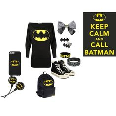 keep calm and call batman by grace-buerklin on Polyvore featuring Converse, Humör and batman