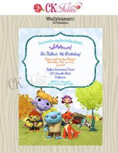 Wallykazam Birthday Invite on Etsy, $10.00