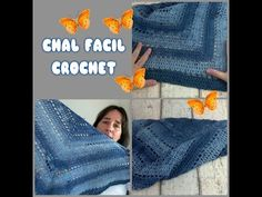 DIY | COMO HACER UN CHAL  DE CROCHET TRIANGULAR EN  UNAS HORAS FACIL - YouTube