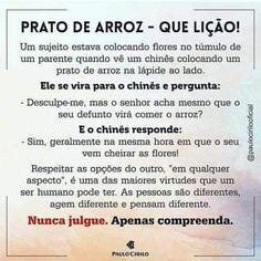 Prato de arroz Portuguese Quotes, Jesus Freak, Great Words, New Years Eve Party, Inner Peace, Sentences, Reflection, Mindfulness, Positivity
