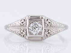 Filigree Jewelers :: Antique Engagement Ring Art Deco .30 Old European Cut - Minneapolis,MN filigreejewelers.com