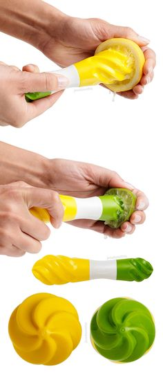Dual citrus reamer // clever 2-in-1 design for both big and small citrus fruits (eg. lemon and lime) #product_design