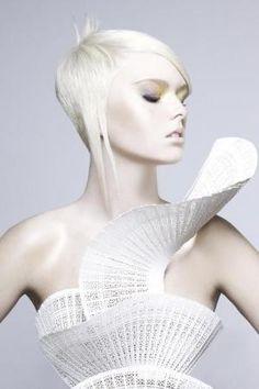 White Spiral Dress by @genevieve