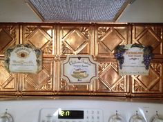 Wine plaques.