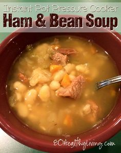 Pressure Cooker Ham and White Bean Soup - Instant Pot
