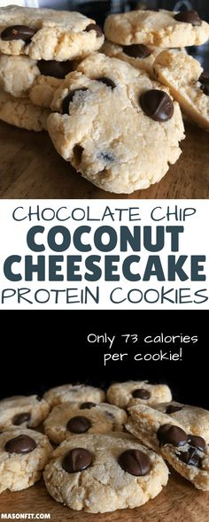 Protein Cookie Recipe: Chocolate Chip Coconut Cheesecake Cookies