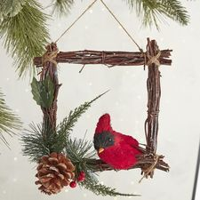 Bird in Frame Ornament -- Pier 1 Imports -- $6.95 -- saved 11-22-16