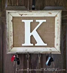 Grandcrafter – DIY Christmas Ideas ♥ Homes Decoration Ideas – DIY Christmas Ideas Diy Home Decor, Room Decor, Wall Decor, Wall Key Holder, Key Holders, Diy Key Holder, Barn Wood Frames, Home Projects, Craft Projects