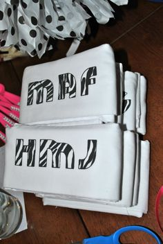 personalized monogram pillow cases for sleepover birthday party favor!