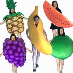 >> Click to Buy << Hot Sale Professional Mascot Costume Adult Size Banana grape watermelon pineapple apple fruit Mascot Costume Halloween Christmas #Affiliate