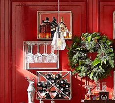Shop mirrored bar shelves from Pottery Barn. Our furniture, home decor and accessories collections feature mirrored bar shelves in quality materials and classic styles. Wine Glass Shelf, Floating Glass Shelves, Glass Shelves Kitchen, Wine Shelves, Bar Shelves, Display Shelves, Kitchen Cabinets, Hanging Shelves, Glass Shelf Supports
