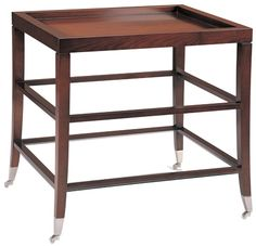 Rosenau Barret Lamp Table Collection: Rosenau With true swirl mahogany top, with removable tray Product Code: 53010 & 53002 Multiple finishes available, please consult information files and refer to the fi.