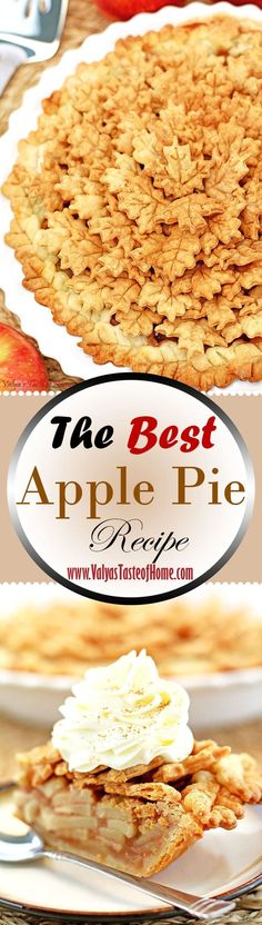 How can you not include this The Best Apple Pie Recipe for Thanksgiving menu? As you can imagine, there must be thousands of recipes out there. This, in my opinion, is the best and the only recipe you'll need. It's a fairly simple recipe to make but tastes absolutely incredible. The homemade pie crust has only four ingredients, including water. The filling is very simple as well. It consists of brown and regular sugar, cinnamon, nutmeg spices, flour, and salt. | www.valyastasteofhome.com