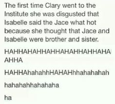 Technically Jace and Izzy are kind of siblings cause they grew up together
