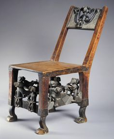 Africa Royal chair from the Chokwe people of DR Congo or Angola