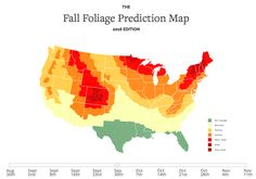 An Interactive Map That Predicts the Best Time for Fall 2016 Foliage in the…