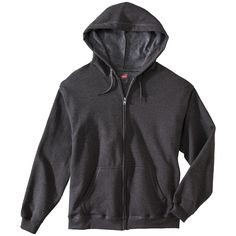 Hanes Premium Men's Fleece Zip up Hooded Sweatshirt - Dark Gray XL, Grey