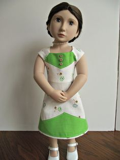 A Girl For All Time Modern Dress 1930s feedsack by VintiqueDesigns