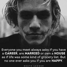 The Joker. Heath Ledger He was my favorite Joker😢 Heath Joker, Joker Joker, Great Quotes, Me Quotes, Inspirational Quotes, Motivational Music, Actor Quotes, Film Quotes, Heath Ledger Zitate
