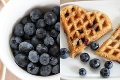 Wholegrain waffles with blueberry Pancakes, Waffle Recipes, No Bake Desserts, Food Photo, Food Pictures, Blueberry, Eat, Breakfast, Photos