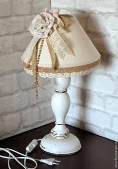 Ręcznie oświetlenie.  Masters - Fair Vintage II lampa ręcznie.  Handmade. Shabby Bedroom, Decoupage, Crafts, Vintage, Home Decor, Projects, Homemade Home Decor, Messy Room, Crafting