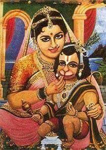 Baby Hanuman with Mother Anjali