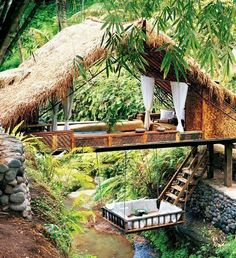 """Panchoran Retreat, Ubud, Bali, Indonesia This absorbing resort has been founded by an Irish woman """" Linda Garland """", who has lived in Ba..."""