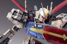 - Painted Build Modeled by RedBrick Strike Gundam, Gundam Model, 30th Anniversary, Spaceship, Transformers, Building, Color, Space Ship, Spacecraft