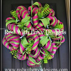 Shop Spring Burlap And Mesh Wreaths on Wanelo