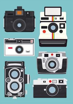 Polaroid poster print, Vintage camera art Rolleiflex, Holga Retro Print Poster wall decor Nursery art - 50 x 70 cm Nursery Wall Decor, Nursery Prints, Nursery Art, Wall Prints, Polaroid Vintage, Vintage Cameras, Camera Art, Retro Camera, Camera Decor