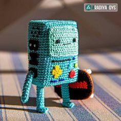 BMO (Adventure time) amigurumi crochet pattern by AradiyaToys
