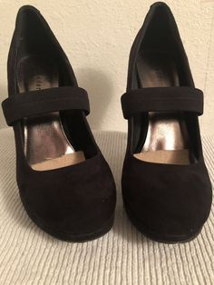 622931eaf04 Steve Madden Girl Black Suede Pumps  fashion  clothing  shoes  accessories   womensshoes  heels (ebay link)