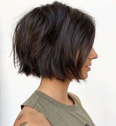 Short Hairstyle May 2019 Special Short Hairstyle May 2019 Special,Hair! Short Hairstyle May 2019 Special – Short haircuts can look great on your slim face. Numerous individuals state that hair is. Bob Hairstyles For Fine Hair, Trending Hairstyles, Short Hairstyles For Women, Short Hair Cuts Girls, Back Of Short Hair, Straight Hair Bob, Short Straight Hairstyles, Hairstyle Short, Textured Hair