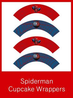 Spiderman Cupcake Wrappers - FREE PDF Download