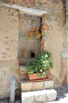 Door stoop, Calvi, Corsica