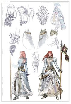 Concept art of Hilde from Soul Calibur IV