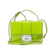Rebel Lime Patent and Suede Cross Body Bag Jimmy Choo ❤ liked on Polyvore featuring bags